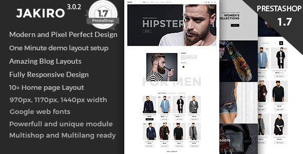 jakiro fashion shop wordpress theme
